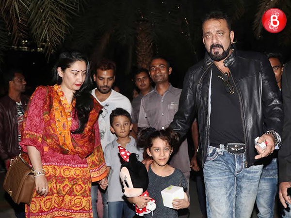 PICS: Sanjay Dutt and family spotted post their fun dinner outing!
