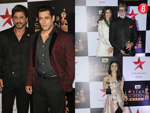 Shah Rukh Khan, Salman Khan and others walk the red carpet of Star Screen Awards 2016