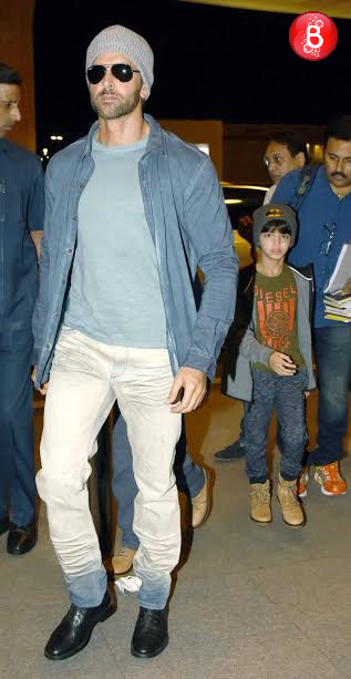 Hrithik Roshan and his son