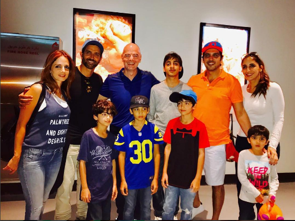 PICS: Hrithik Roshan is celebrating New Year with Sussanne Khan's family in Dubai