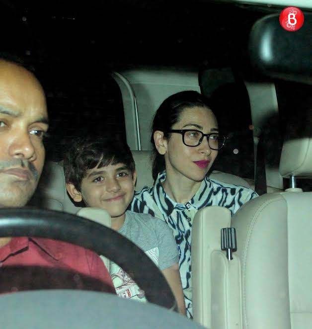 Karisma Kapoor with her son