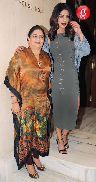 Priyanka Chopra with her mother Madhu Chopra