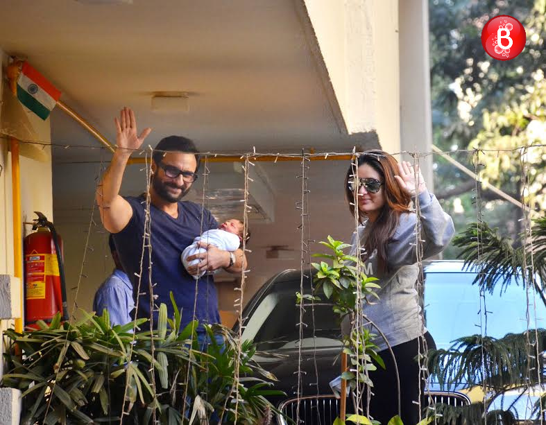 Saif Ali Khan, Kareena Kapoor Khan with their son Taimur Ali Khan