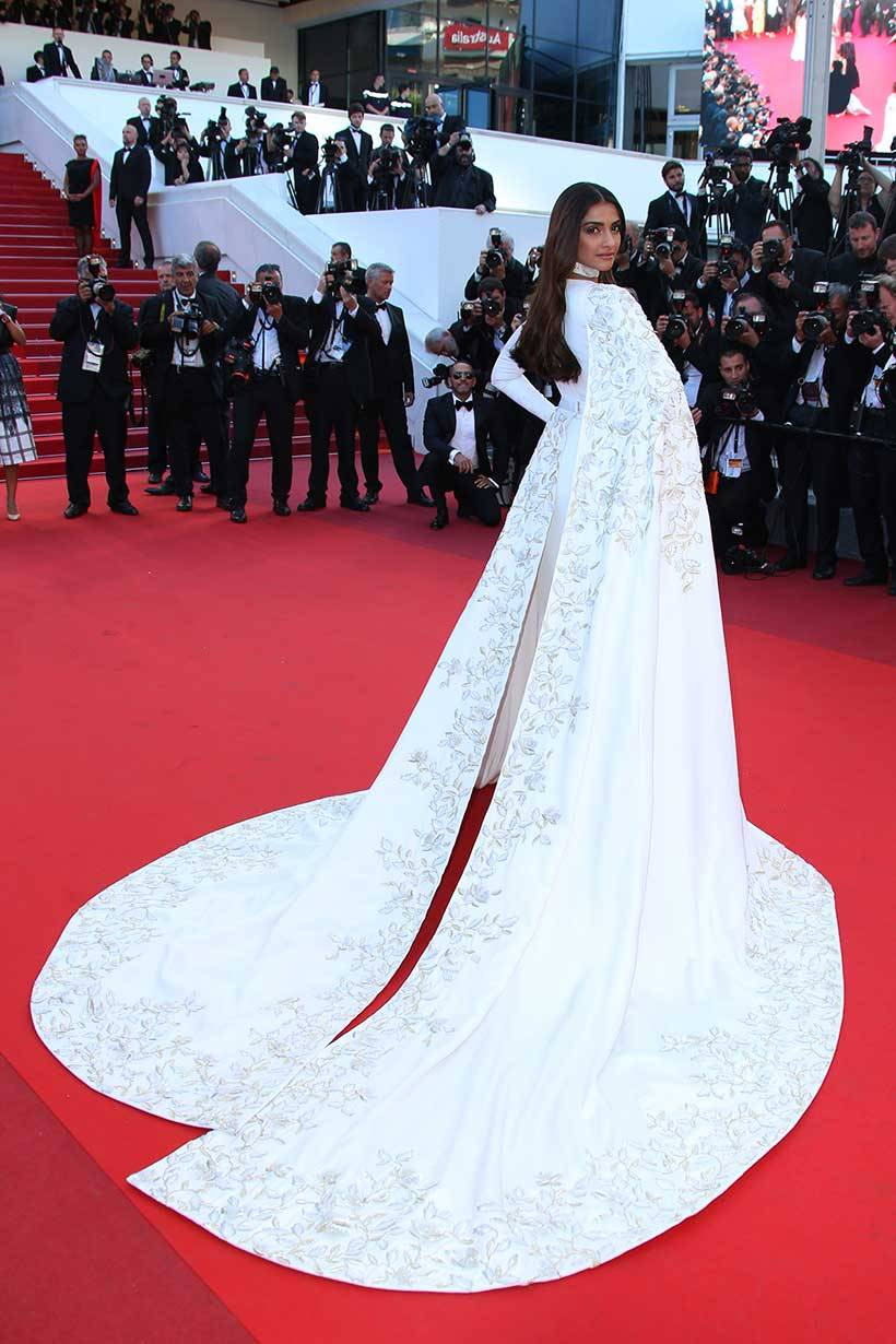 Sonam Kapoor's 'rumali roti' dress at Cannes