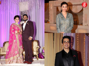 Daisy Shah, Sonu Sood snapped at Munna Singh's wedding reception