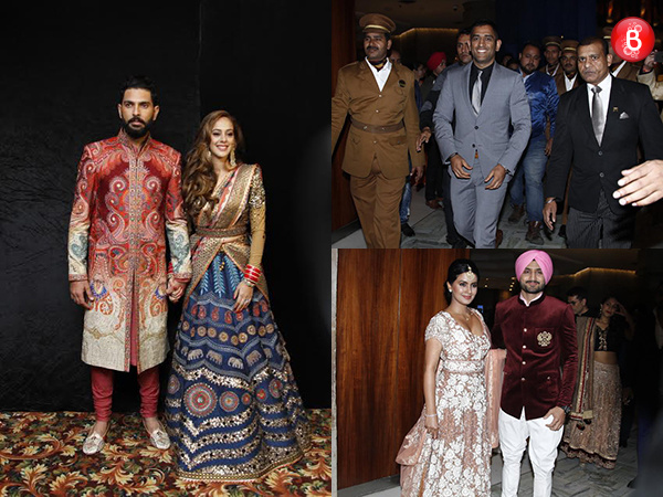 Yuvraj Singh and Hazel Keech's wedding reception sees MS Dhoni, Harbhajan Singh in attendance