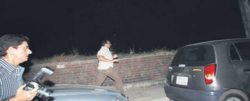 Aditya Chopra running away from media