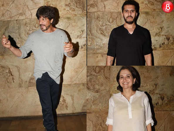 Shah Rukh Khan, Ritesh Sidhwani and others spotted at the special screening of 'Raees' trailer