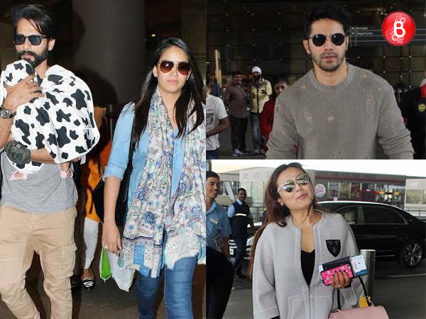 Airport spotting: Rani Mukerji, Shahid Kapoor and others embrace winter in style