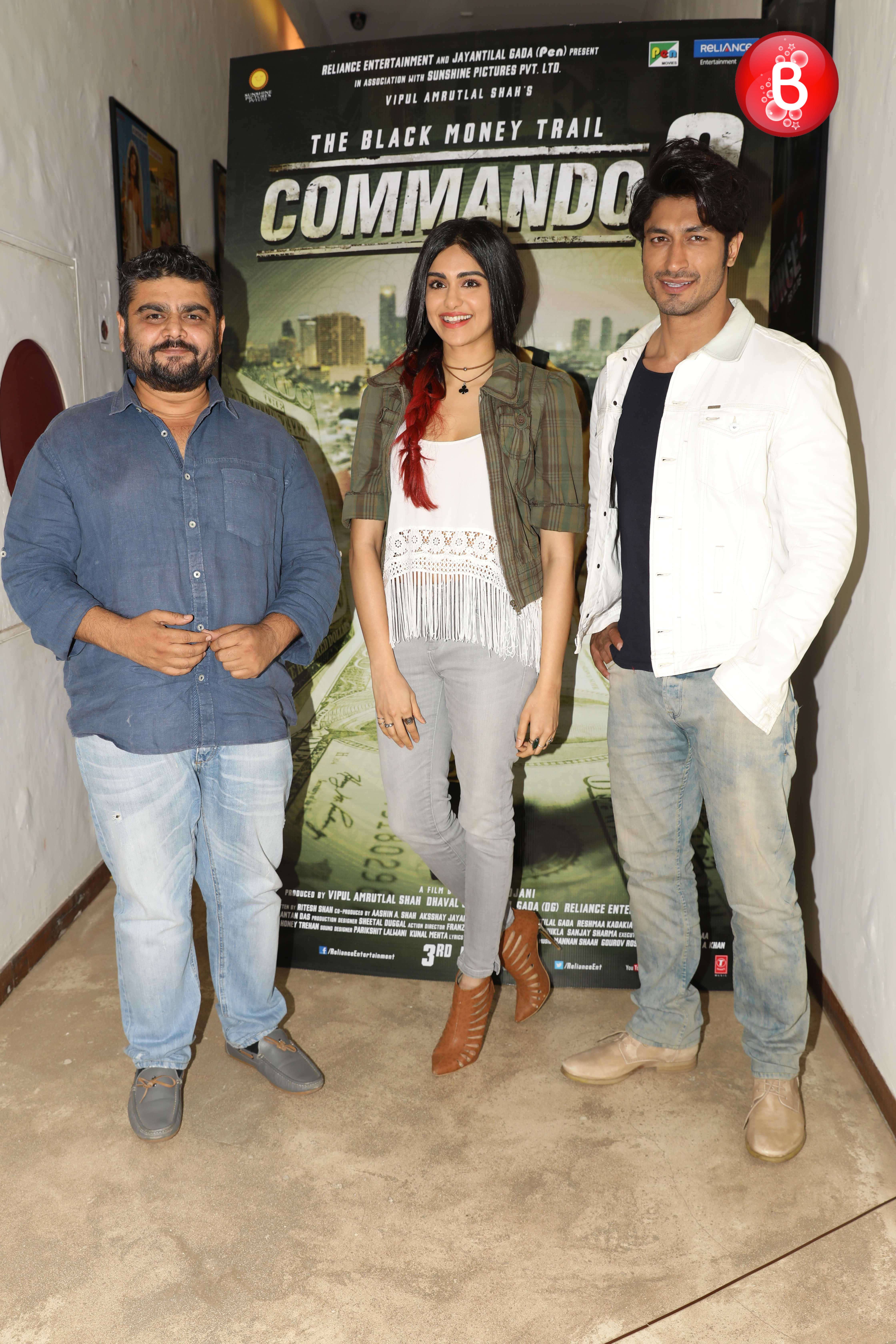 Adah Sharma, Deven Bhojani and Vidyut Jammwal