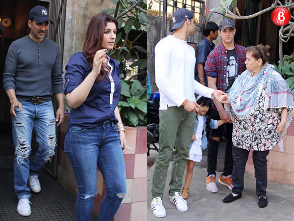 PICS: Akshay Kumar and Twinkle Khanna twin their outfits and win our hearts