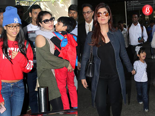 PICS: Twinkle Khanna, Kajol and other celebs return from vacation with family