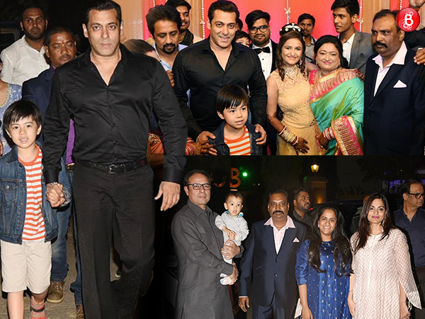 PICS: Salman Khan with family and Matin Rey Tangu graces his driver's son's wedding reception