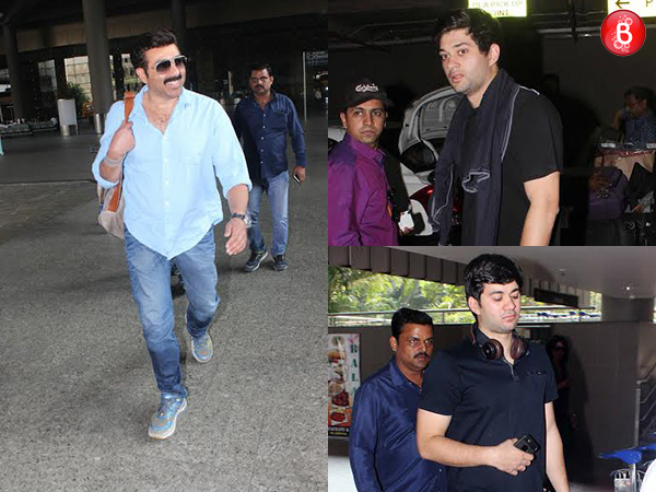 The third generation of the Deols are stars in making! Sunny Deol with sons Karan and Rajvir