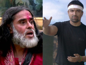Watch: Ajaz Khan threatening to slap Swami Om for his ugly acts