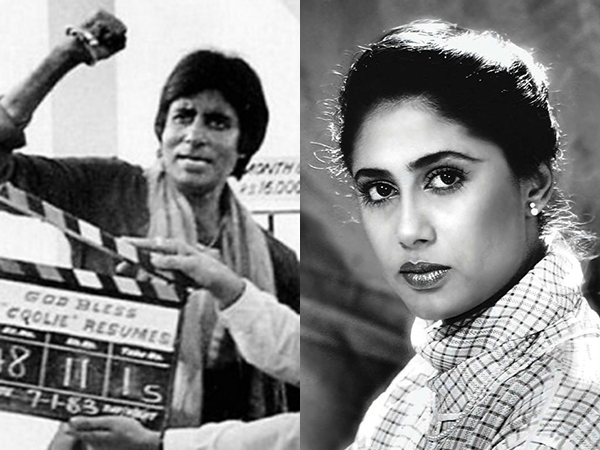 When Smita Patil had got an intuition about Amitabh Bachchan's accident on 'Coolie' sets