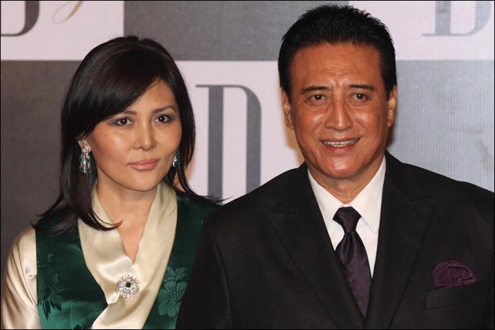 Danny Denzongpa with wife Gawa