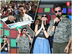 Hrithik Roshan and Yami Gautam at Mithibai College for 'Kaabil' promotions