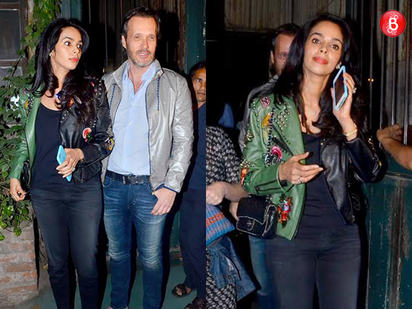 Spotted: Mallika Sherawat spending time with French boyfriend Cyrille Auxenfans in Mumbai