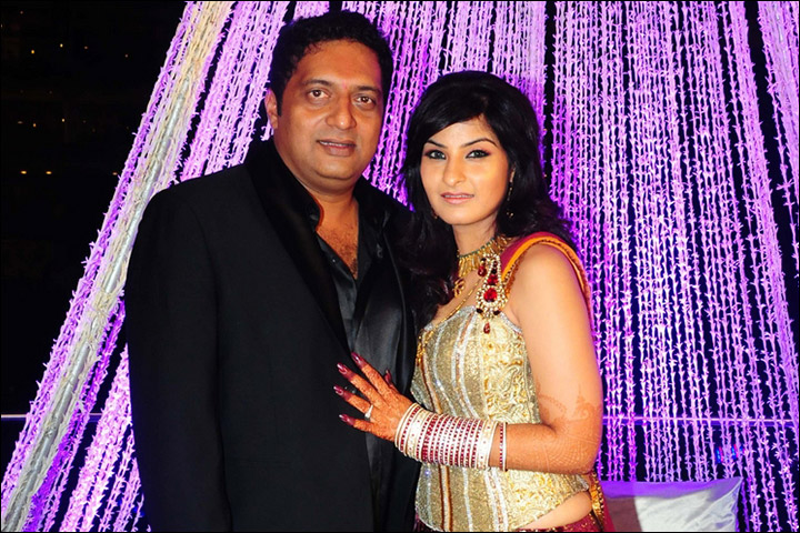 Prakash Raj with wife Pony Verma