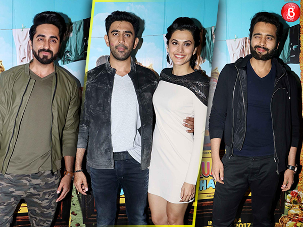 Taapsee Pannu and Amit Sadh catch 'Running Shaadi' screening along with B-Town friends