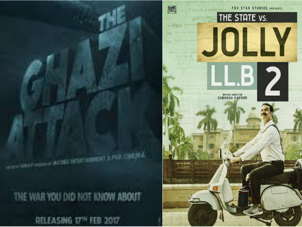 'The Ghazi Attack' and 'Jolly LL.B 2' do poor business on second and third Mondays