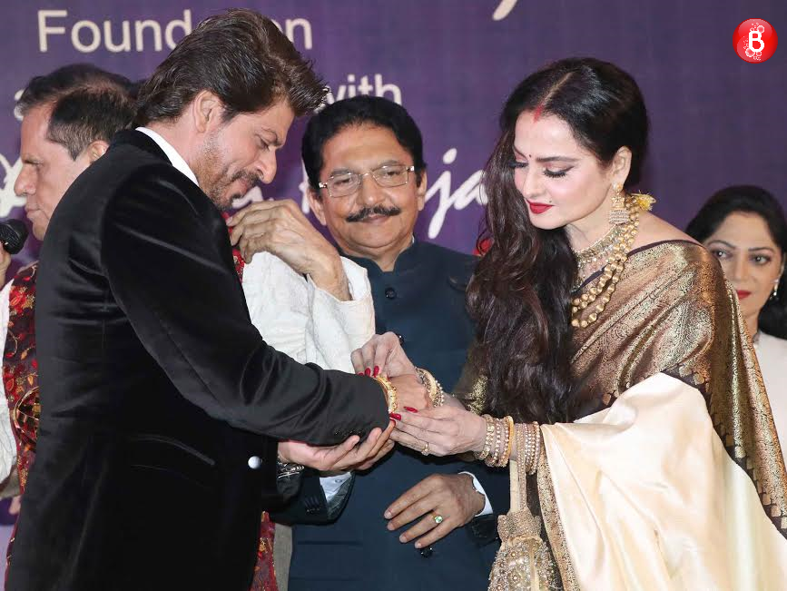 Shah Rukh Khan and Rekha