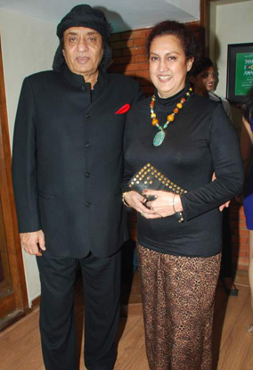 Ranjeet with wife Aloka Bedi