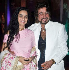 Shakti Kapoor with wife Shivangi