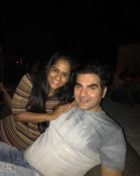 Arpita Khan Sharma with brother Arbaaz Khan