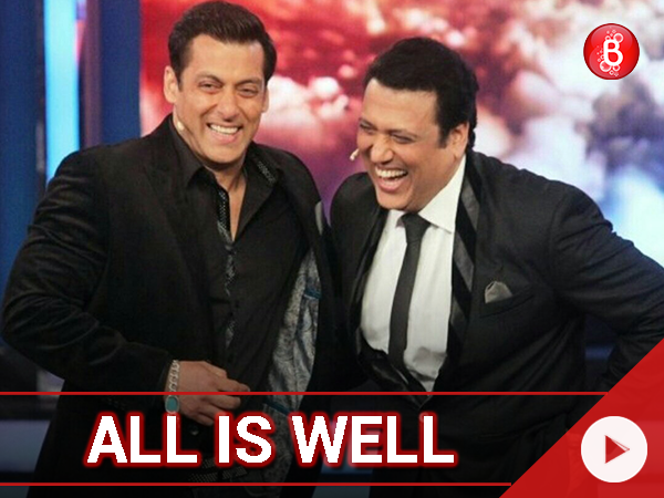 Watch: All's well between Salman Khan and Govinda?
