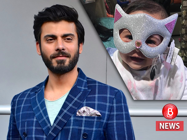 Fawad Khan's baby girl is too cute for words in this picture with a fancy mask