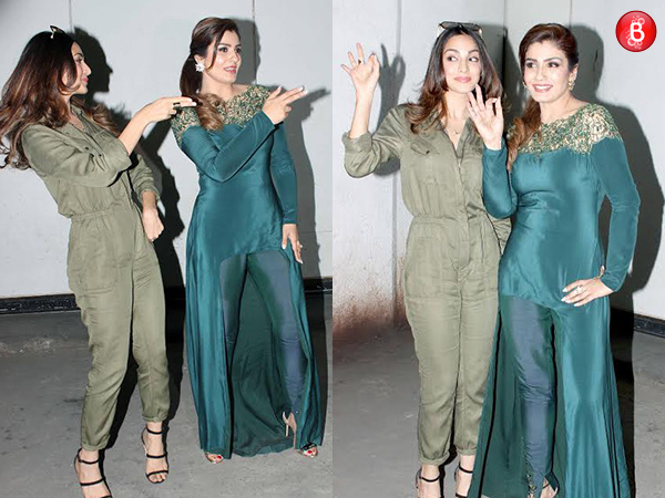 When the 'Mast Mast' girls met: Raveena Tandon and Kiara Advani groove together on 'Cheez Badi'