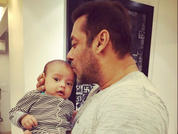 This picture of Salman Khan and Ahil personifies the word cuteness
