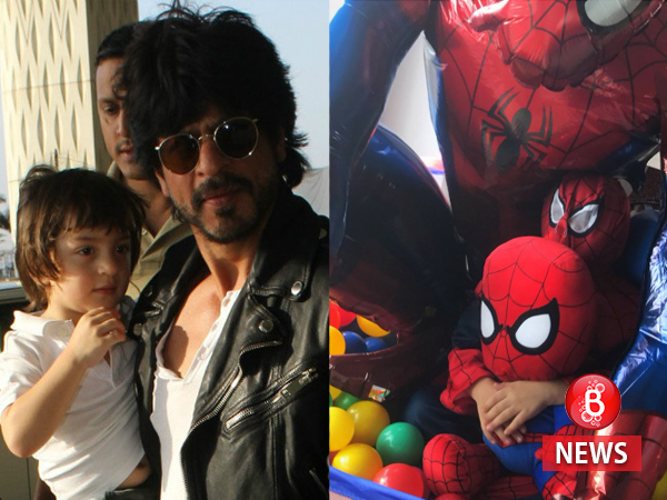 Shah Rukh Khan's little AbRam makes for the cutest Spider-Man one can ever see!