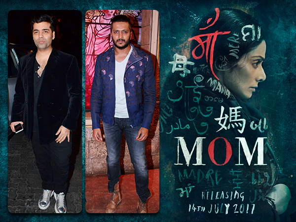 'Mom' first look: Karan Johar, Riteish Deshmukh and others can't wait to see Sridevi's film