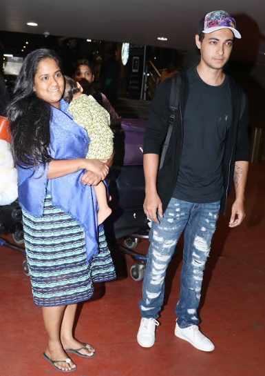Aayush Sharma, Arpita Khan Sharma with Ahil