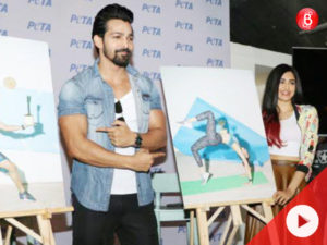 Adah Sharma and Harshvardhan Rane face an embarrassing moment during PETA India's event