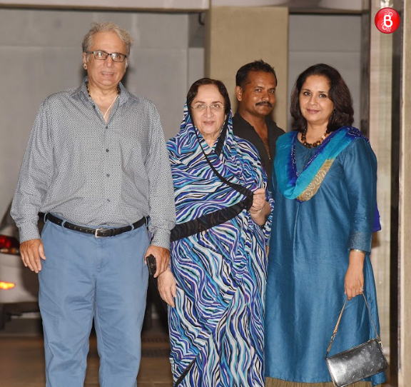 Aditya Raj Kapoor with step-mom Neela Devi and wife