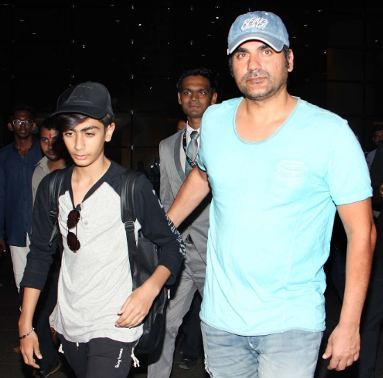 Arbaaz Khan with son Arhaan