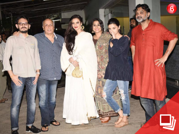 The special screening of 'Begum Jaan' sees Rekha in attendance! VIEW PICS