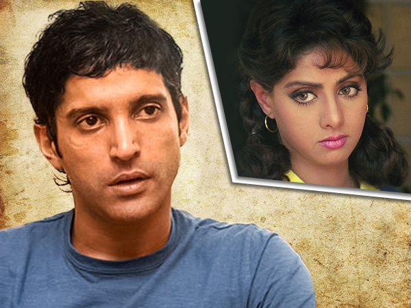 When Sridevi's humour saved Farhan Akhtar from almost losing his first job