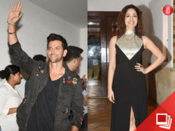 Hrithik Roshan and Yami Gautam at 'Kaabil' success party with fans