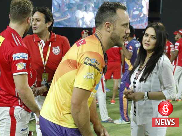 Preity Zinta and ex-boyfriend Ness Wadia get clicked together at a recent IPL match