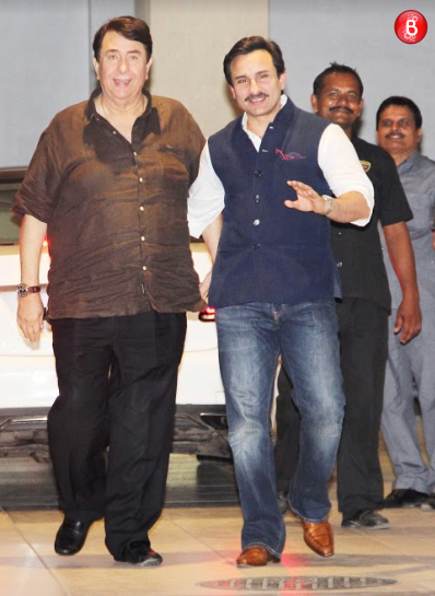 Saif Ali Khan and Randhir Kapoor