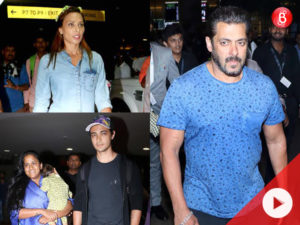 WATCH: Salman Khanreturns from Maldives along withIulia Vantur and family
