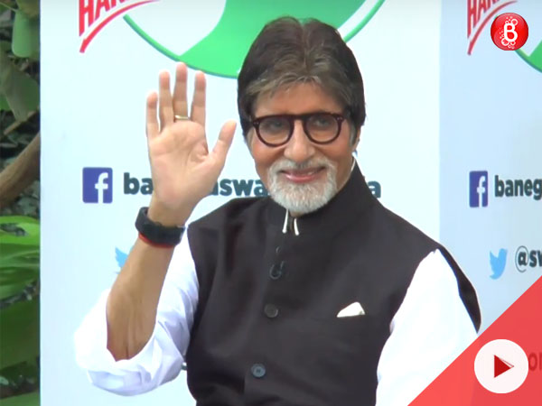 Watch: Amitabh Bachchan talks about the Swachh India campaign