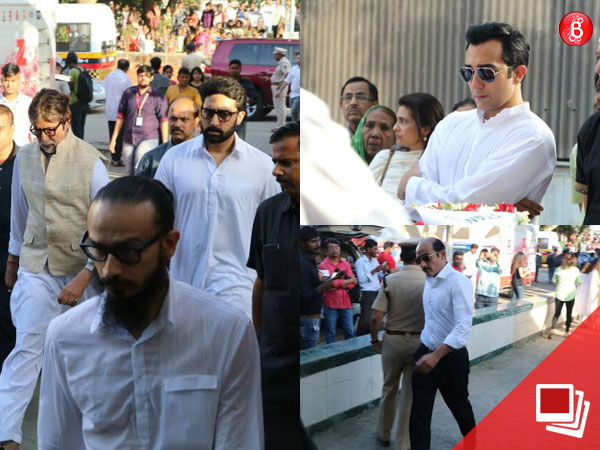 PICS: B-Town celebs pay their last respects to Vinod Khanna at the actor's funeral
