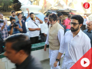 WATCH: Amitabh Bachchan, Rishi Kapoor and other celebs at the funeral of Vinod Khanna