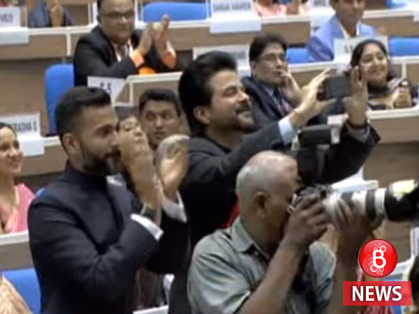 Proud dad Anil Kapoor elated to see his daughter Sonam Kapoor win the National Award. Pic inside